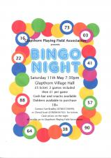 BINGO evening in aid of Playing Field Project